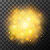Vektor Cliparts: Goldene helles Licht, magische Wirkung in dunklen