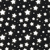 Vektor Cliparts: Glänzende silberne Sterne in dunklen, nahtlose Muster