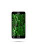Vektor Cliparts: Schwarz-Smartphone mit grünen Matrix-Symbole auf dem Bildschirm