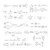 Vektor Cliparts: Große Reihe von grundlegenden chemischen Reaktionsgleichungen und