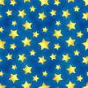 Vektor Cliparts: Glossy goldenen Sternen auf blauem, nahtlose Muster