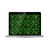 Vektor Cliparts: Glossy Laptop mit grünen Matrix-Bildschirm