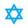 Vektor Cliparts: Blauer Stern von David mit Schatten