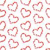 Vektor Cliparts: Herz-Konturen aus kleinen rosa Herzen,