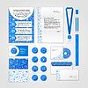 Vektor Cliparts: Medical Corporate Identity Design mit einem modernen Flach