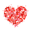 Vektor Cliparts: Herz aus kleinen rosa und roten Herzen