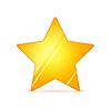 Vektor Cliparts: Glossy goldenen Stern Stern mit Schatten