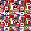 Vektor Cliparts: Flaggen der Welt souveräner Staaten nahtlose Muster