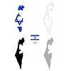 Vektor Cliparts: Israel Land schwarze Silhouette und mit Fahne