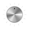Vektor Cliparts: Metall runden Knopf mit der Markierung und Skalenteilungen