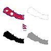 Vektor Cliparts: Nepal Land schwarze Silhouette und mit Fahne