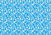 Vektor Cliparts: Weiß neuronales Netzwerk auf blau, abstrakten Hintergrund ein