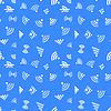 Vektor Cliparts: Weiß WiFi-Icons auf blau, nahtlose Muster