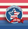 Viertel von Juli amerikanischen Unabhängigkeitstag Abzeichen