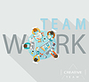 Teamwork-Konzept,