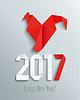 Векторный клипарт: Новый год 2017 в стиле оригами
