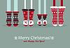 Векторный клипарт: Семейные ноги в рождественские носки