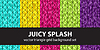 Vektor Cliparts: Dreieck Muster-Set Juicy Splash. nahtlos