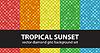 Vektor Cliparts: Diamant-Muster-Set Tropical Sunset. nahtlos