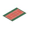 Vektor Cliparts: Feld für Spiel des Tennis,