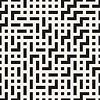 Vektor Cliparts: Unregelmäßige Maze Lines. Nahtlose Schwarz-Weiß