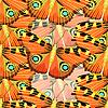 Vektor Cliparts: Nahtlose Muster mit Schmetterling-Pfau