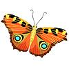 Vektor Cliparts: Schmetterling Pfau Auge