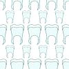 Vektor Cliparts: nahtlose Muster gesunde Zähne Paste