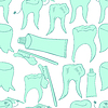 Vektor Cliparts: nahtlose Muster gesunde Zähne Paste lächelnd.