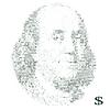 franklin portrait with dollar symbols mosaic