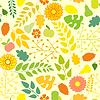 Nahtlose Herbst Muster auf gelbem Hintergrund