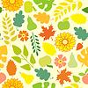 Herbst nahtlose Muster auf gelbem Hintergrund