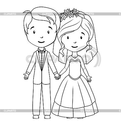 485Как нарисовать жениха с невестой карандашом поэтапно