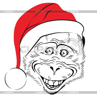 Раскраска обезьян на новый год