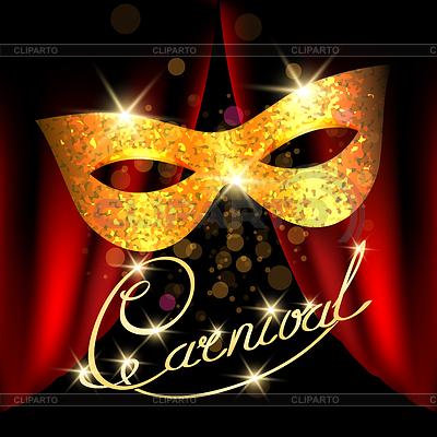 Шаблон маски для карнавала