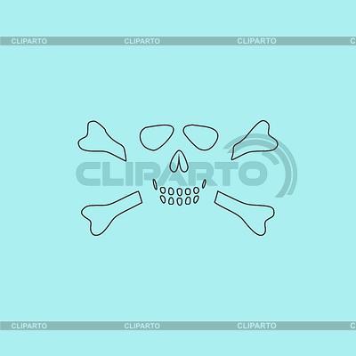 Рисунок череп с костями