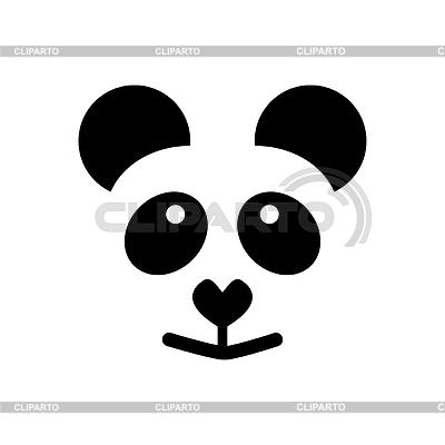 simple panda clipart - photo #47