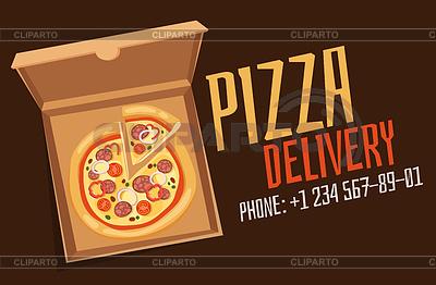 Эмблема доставки пиццы