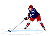 Vector clipart: Ice hockey player. Colored Vector 3d illustration
