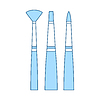 Vector clipart: Paint Brushes Set Icon