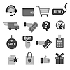 Vector clipart: e-commerce shop gray icons