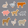 Vector clipart: domestic animals stickers