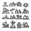 Vector clipart: landscapes icons set
