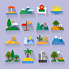 Vector clipart: nature flat icons set