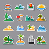 Vector clipart: nature stickers