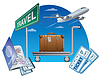 Vector clipart: travel and passport with tickets