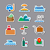 Vector clipart: travel and resort stickers