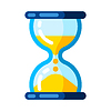 Vector clipart: sandglass clock. Stylized icon for design