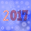 Winter Christmas Blue Snow Flake Background