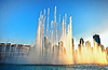 Dancing Fountains of Burj Khalifa. Dubai, UAE | 免版税照片